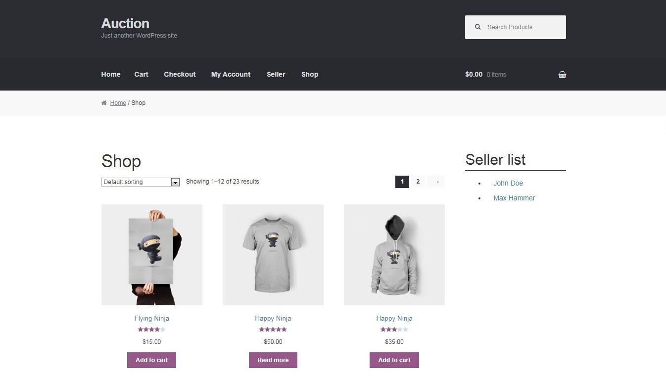 WordPress аукцион – Создайте сайт аукционов в духе eBay 5