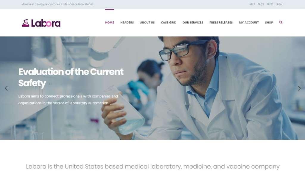 шаблоны сайта лаборатории: медицинские темы с каталогом и калькулятором цен 1