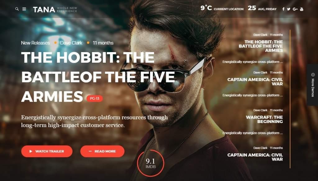 шаблоны WordPress для онлайн кинотеатра с бронированием и интеграцией IMDb 1