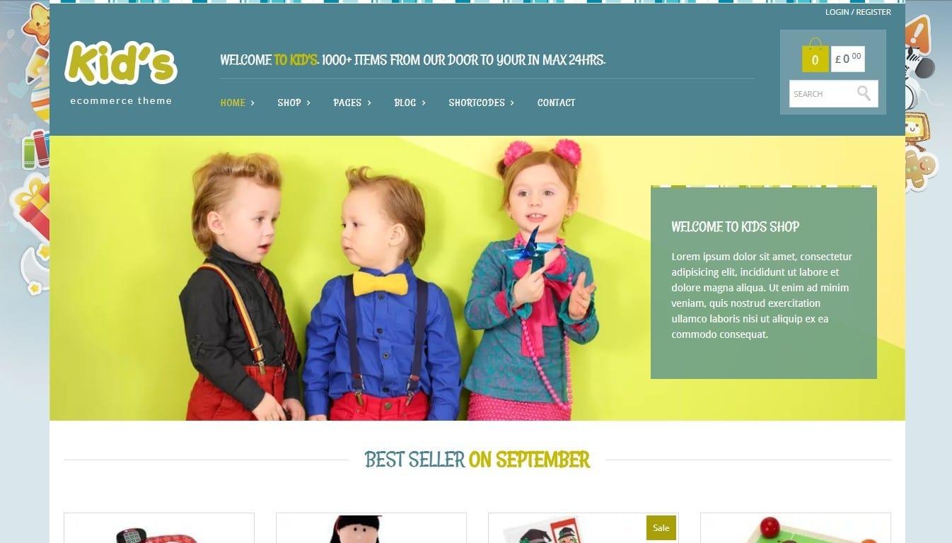 KIDSHOP – WooCommerce шаблон интернет магазина игрушек в творческом стиле 54966eb552f