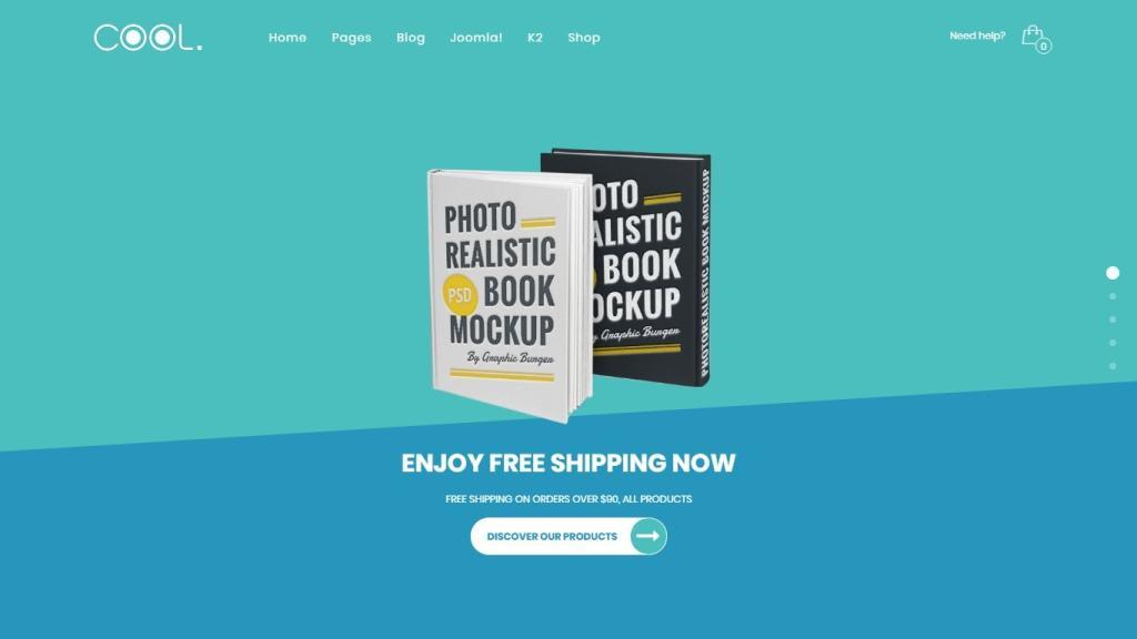 Joomla шаблон книги: готовый сайт с поддержкой магазина 2