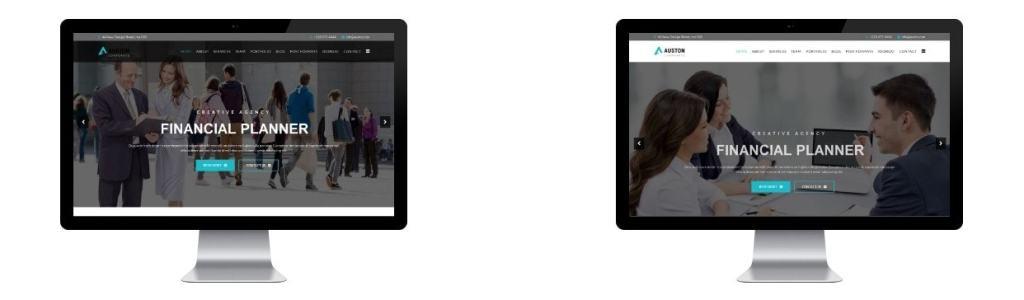 Joomla шаблон с демо данными бизнес красивый сайт за час 5