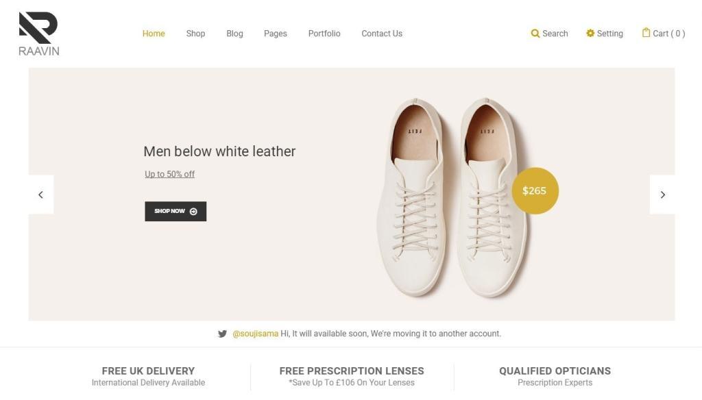 шаблон интернет магазина обуви с поддержкой атрибутов 1