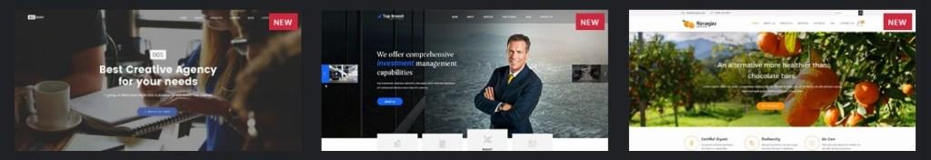 шаблон сайта онлайн для блога, бизнеса, портфолио, магазина и каталога 01