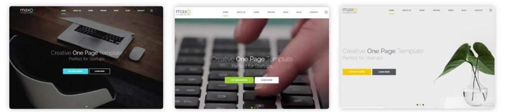 готовые верстки сайта для бизнеса, творчества, развлечений и торговли 13