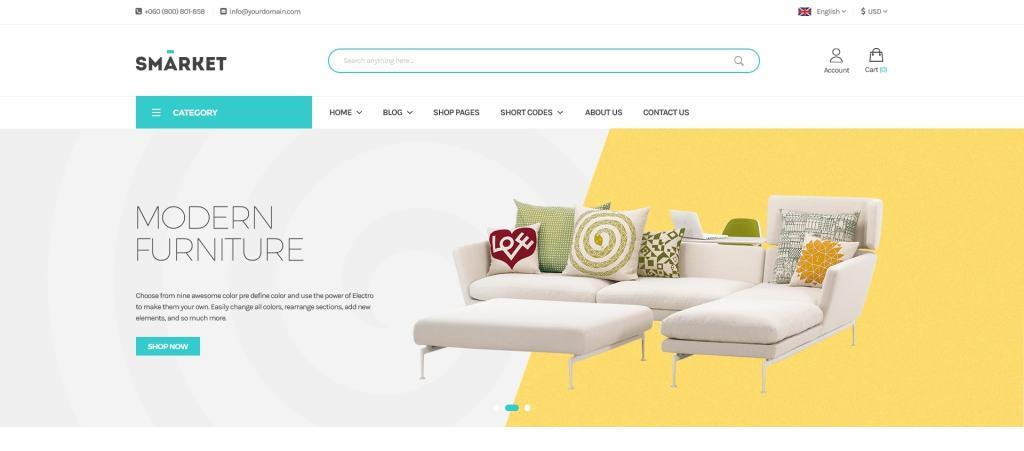 лучшие PSD макеты интернет магазинов для верстки 19