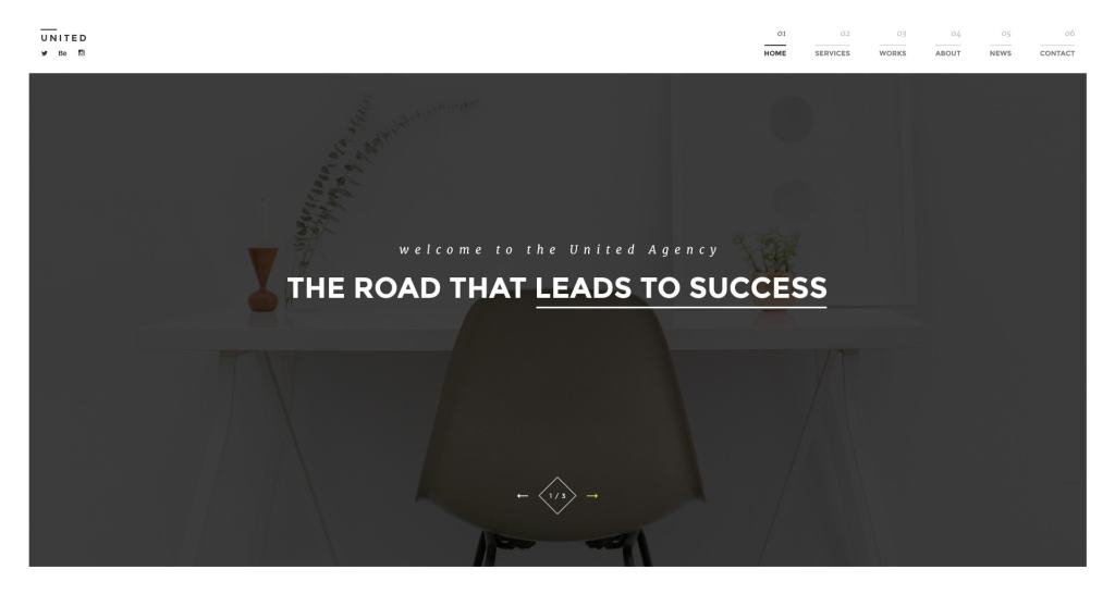 красивый макет сайта для привлечения посетителей 03