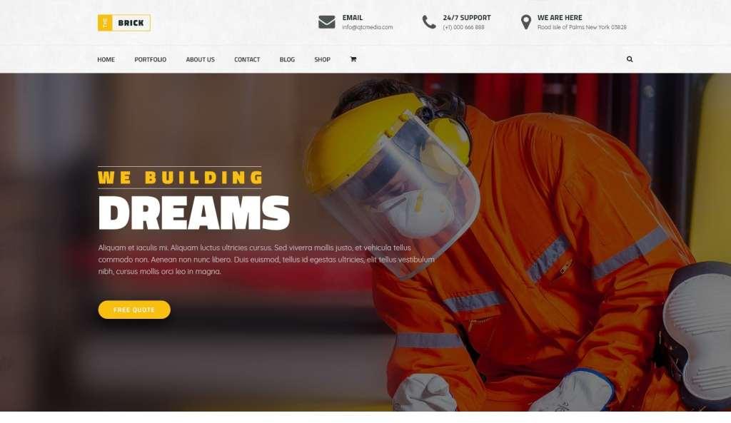 макет строительного сайта для серьезного бизнеса 19
