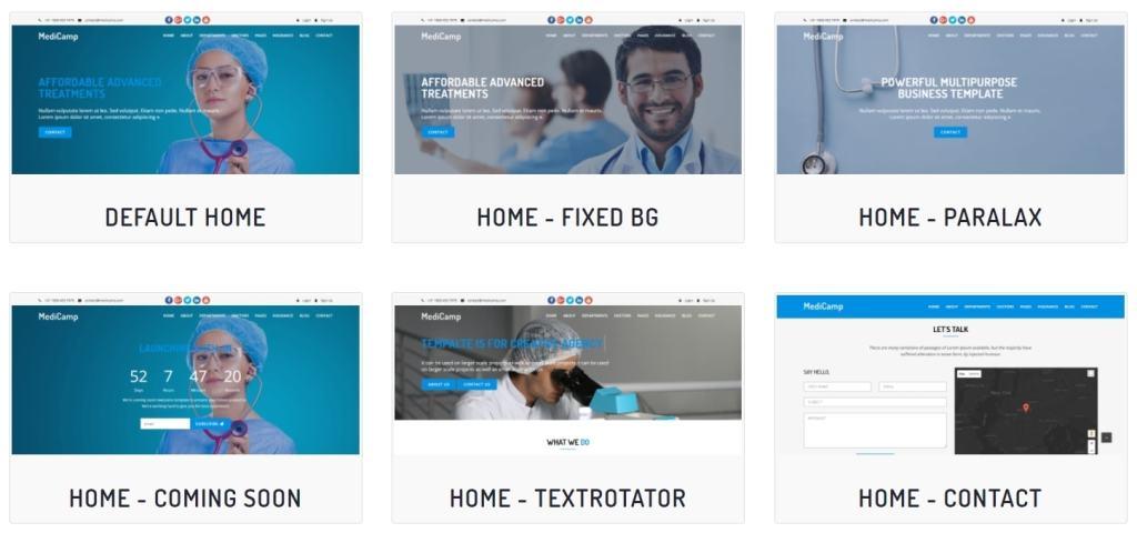 адаптивные шаблоны медицина HTML с онлайн-формой записи 03