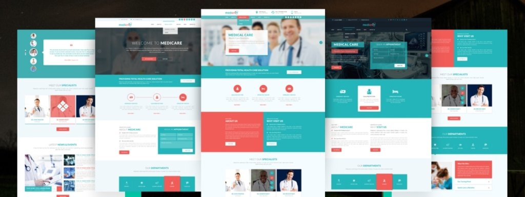 адаптивные шаблоны медицина HTML с онлайн-формой записи 08