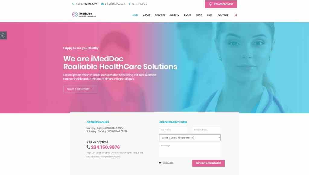 адаптивные шаблоны медицина HTML с онлайн-формой записи 10