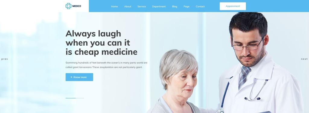 адаптивные шаблоны медицина HTML с онлайн-формой записи 13