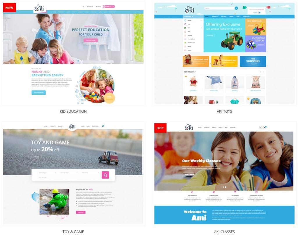 детские темы WordPress для школ, детских садов, центров и магазинов 02