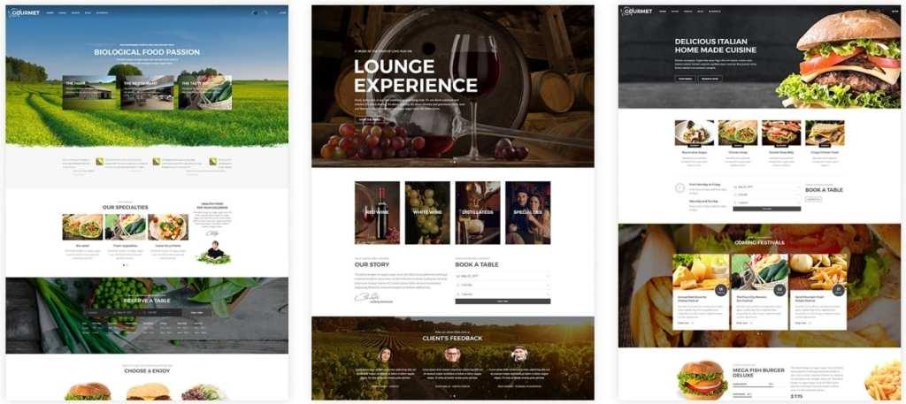 HTML шаблоны ресторан с онлайн-бронированием столиков 11