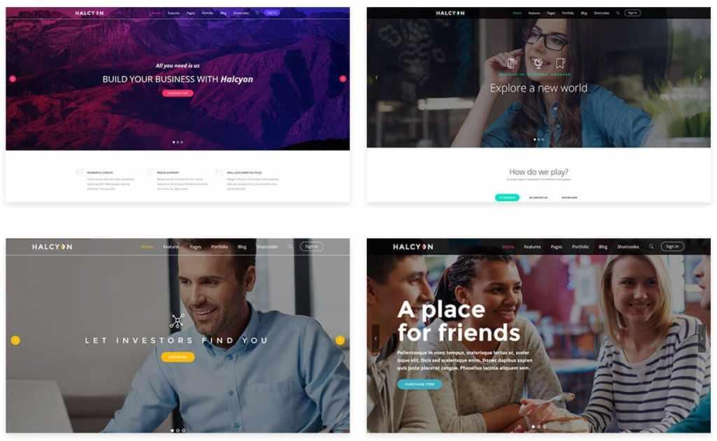 Топ 100 адаптивные HTML шаблоны для бизнеса, портфолио, блога и магазина 12