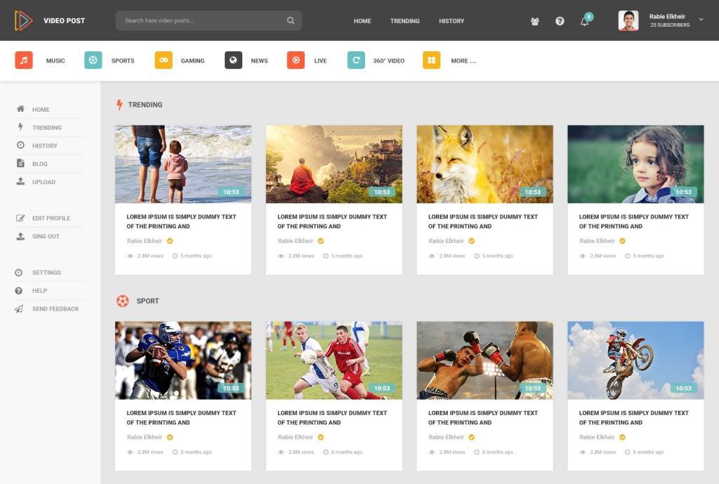 b835ddde4ea8 PSD макеты сайтов – 50 современных дизайнерских концепций для вашего ...