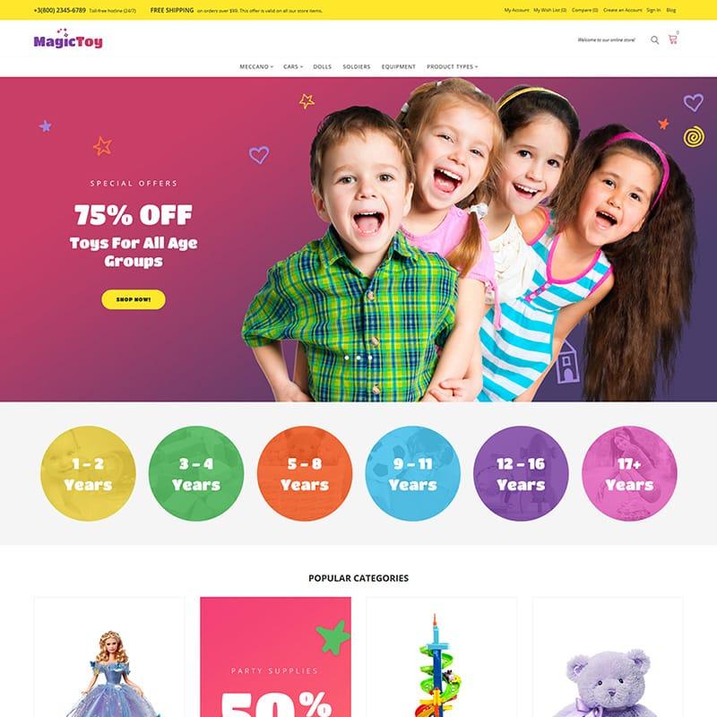 10 лучших шаблонов детского магазина