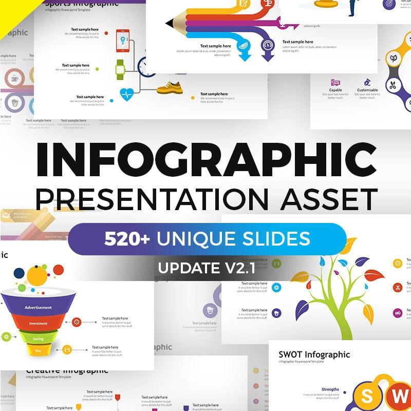 Keynote шаблон Business Infographic Pack - Keynote Asset
