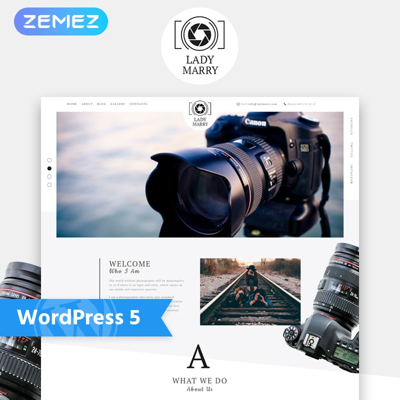WordPress шаблон Lady Marry - Photography Ready-to-use Creative Elementor