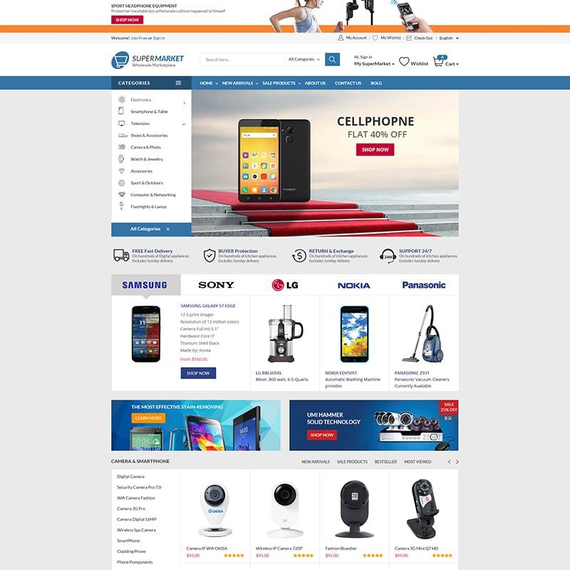 WooCommerce шаблон Supermarket - The Best Store