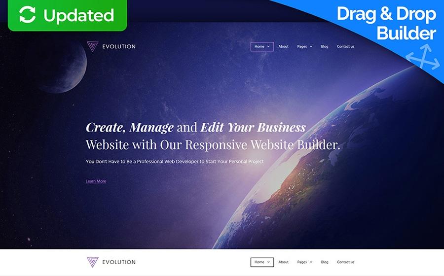 Evolution — MotoCMS 3 шаблон бизнес-сайта