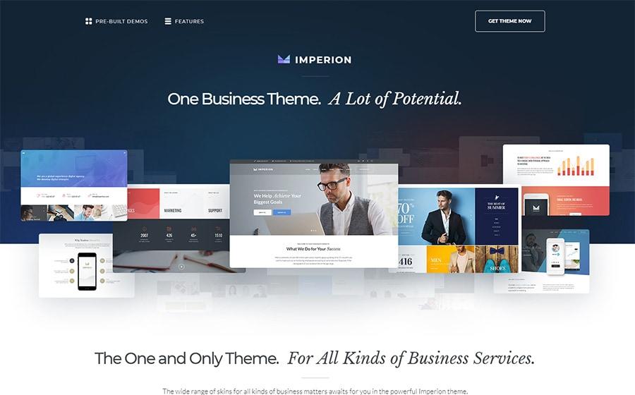 Imperion - многоцелевой WordPress шаблон сайтов для бизнеса