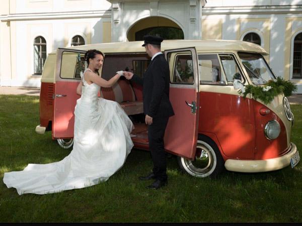 Hochzeitsauto VW Bulli Taxi