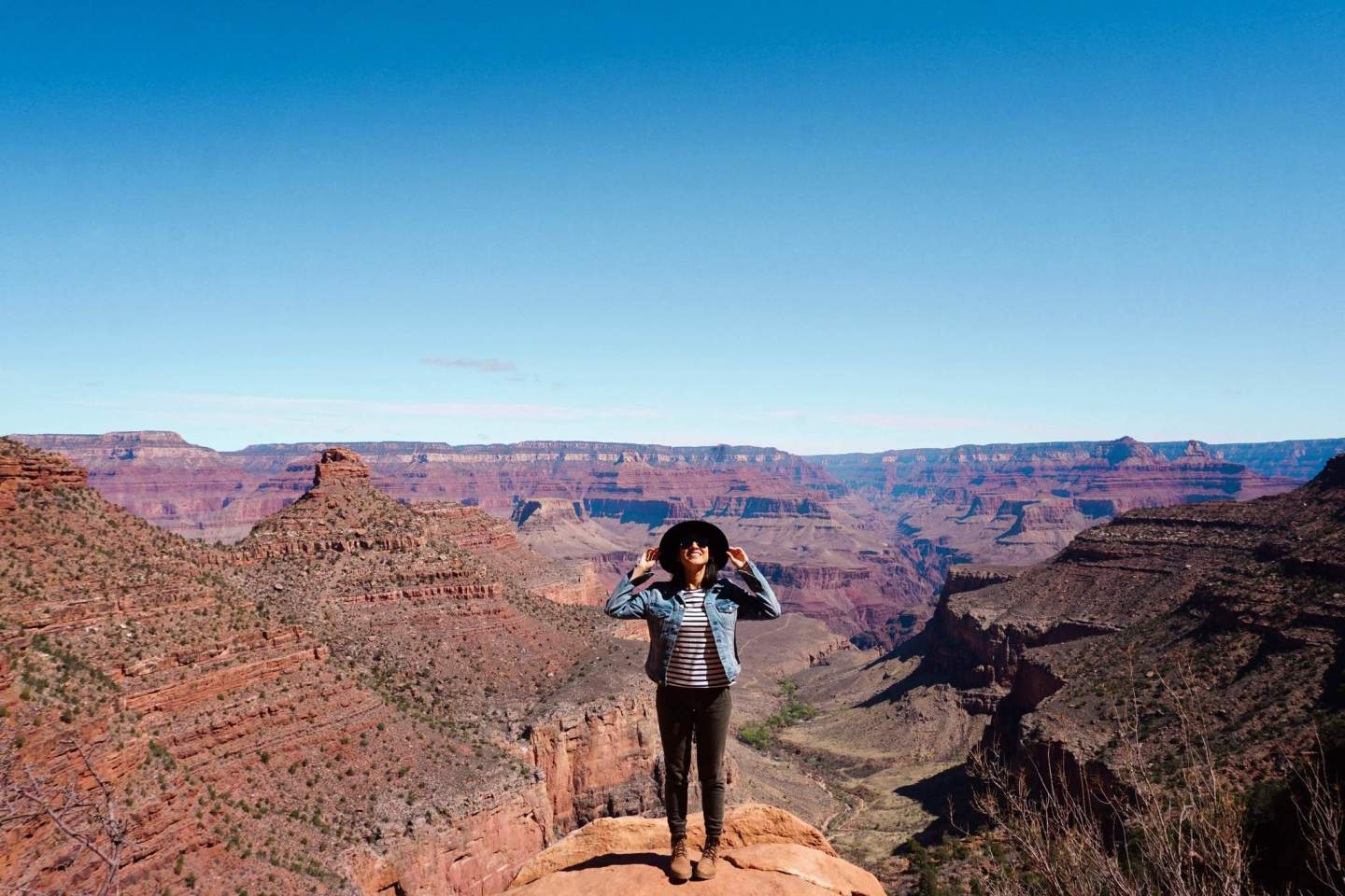 Hiking Bright Angel Trail in Grand Canyon 3