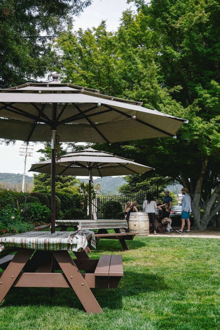 Healdsburg Dry Creek Vineyard Tables at Garden