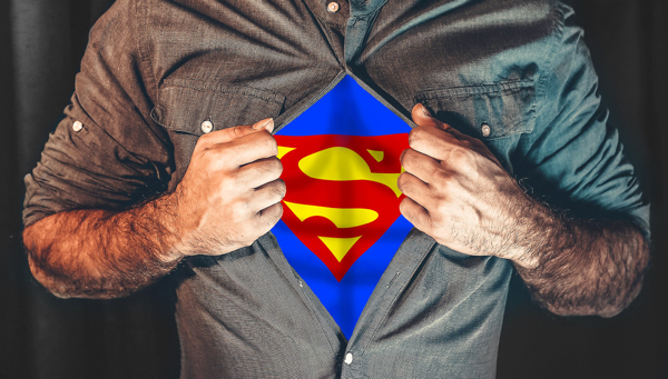 Photo of man with superman t-shirt