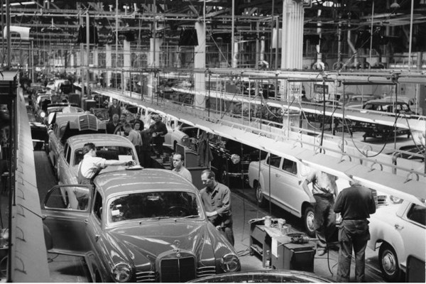 Vintage Photo of an auto plant
