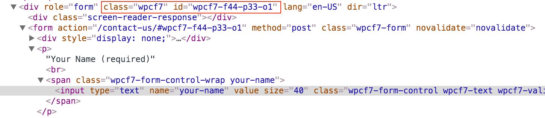Inbound Rocket - find the CSS Selector