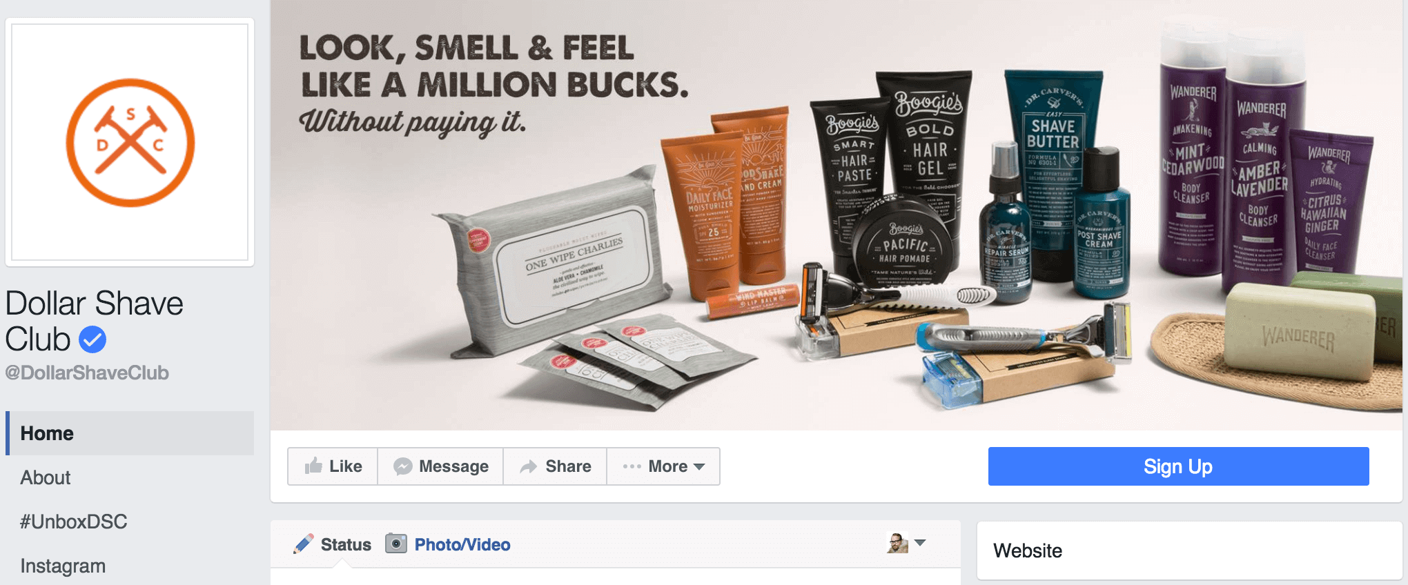 Dollar Shave Club on Facebook