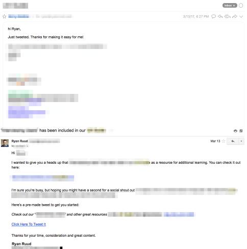 Click To Tweet response email