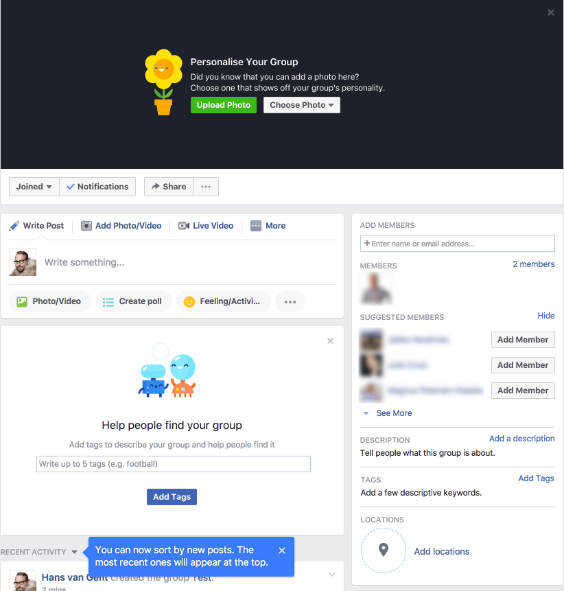 Finalising Your Facebook Group setup