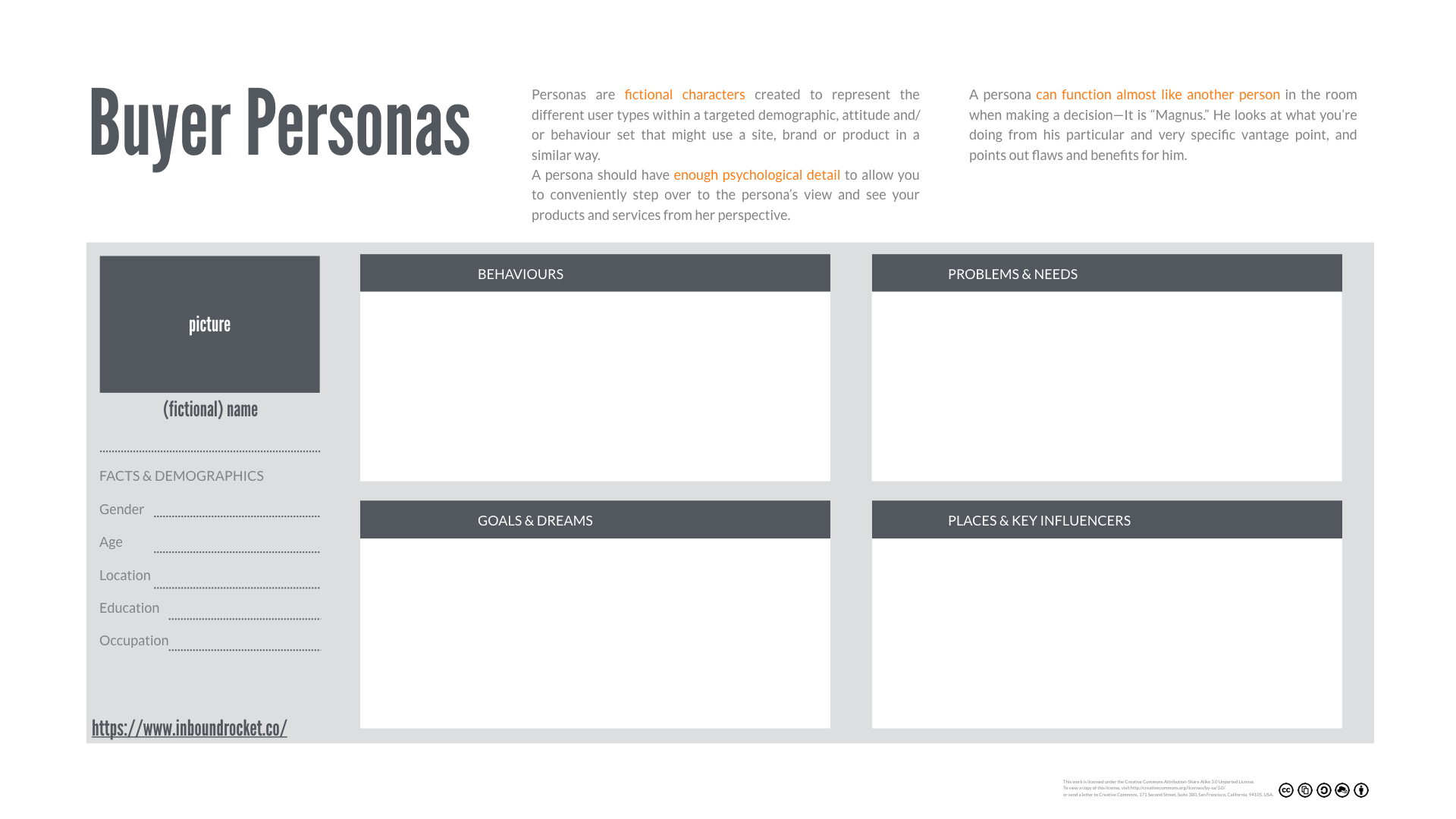 Buyer Personas Template