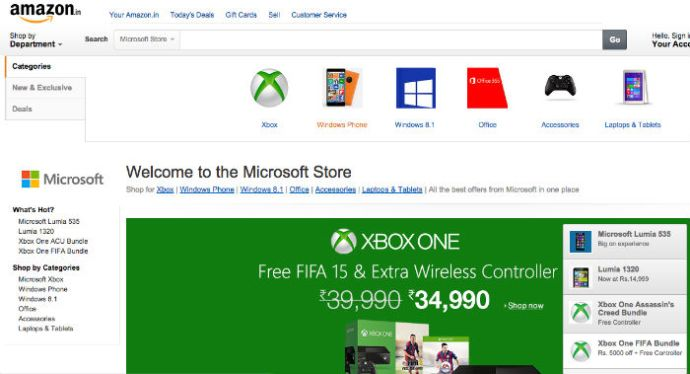 Microsoft Launches Its Official Brand Store On Amazon India