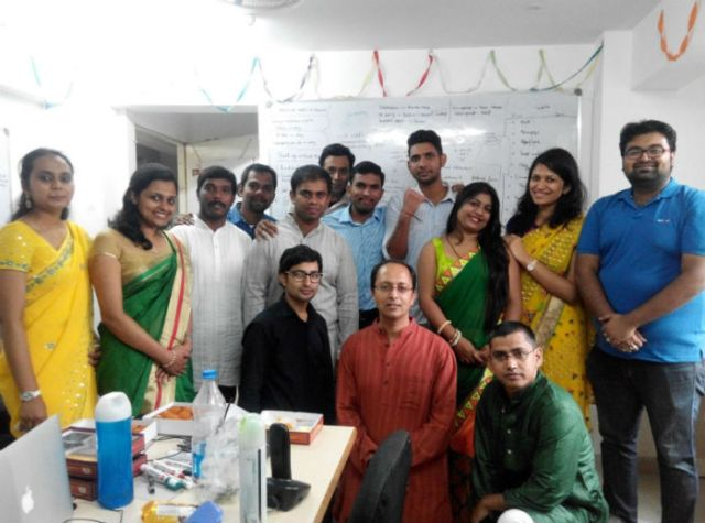 Sachin Agarwal (in red), Founder, ePoise with his team members
