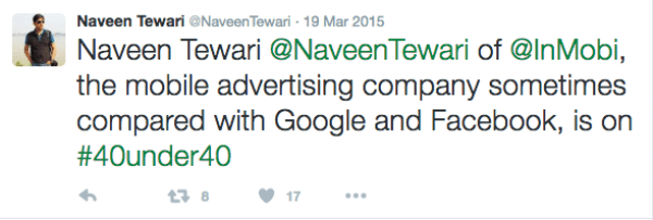 Naveen was a bit late on twitter,if you know what we mean ;)
