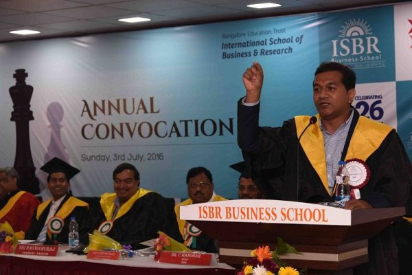 Delivering Keynote speech at Graduating ceremony at ISBR