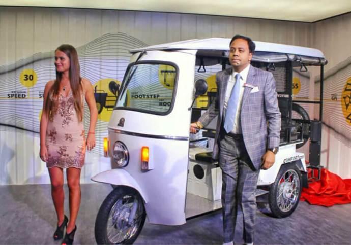 Lohia Auto-Electric Three Wheeler-Auto Expo