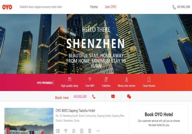 Oyo expands operations to Shenzen, China