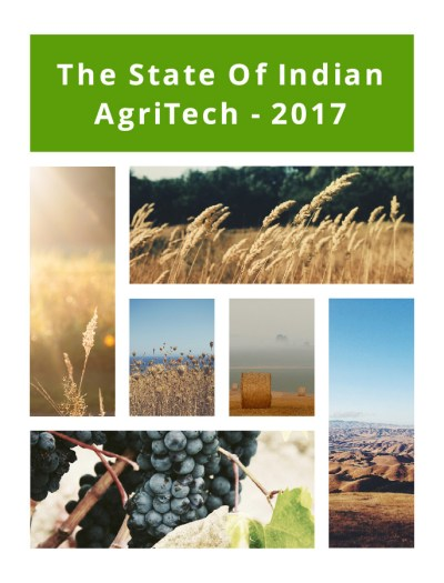 Indian Agritech Report 2017 By Inc42 Media