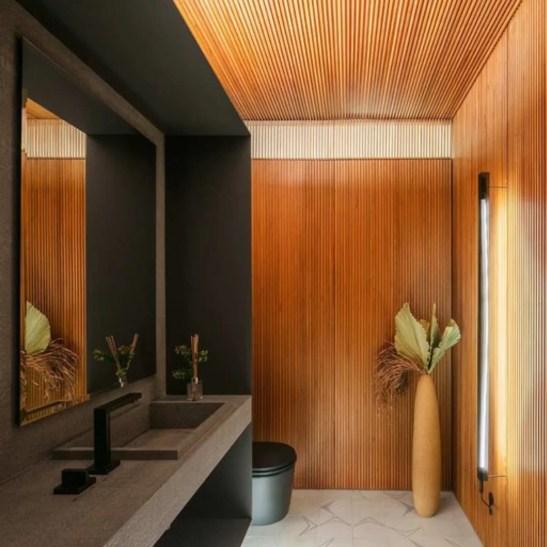 decoração ambiente cor preta