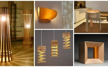 10 lampi din lemn