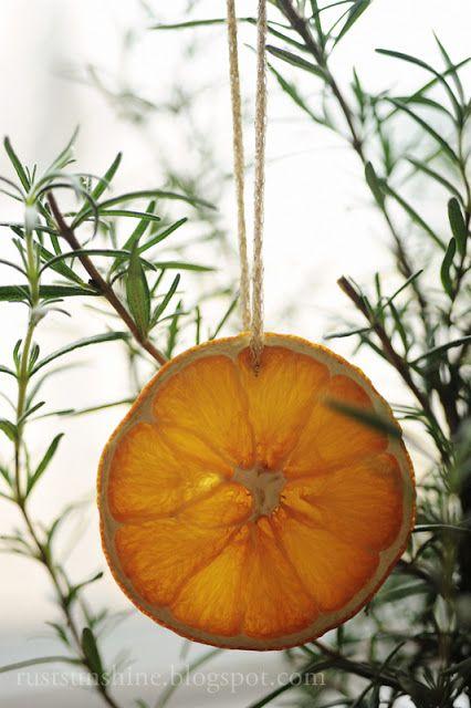 Decoratiuni de Craciun din Fructe