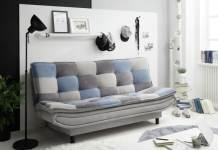 canapea extensibila din stofa tapitata