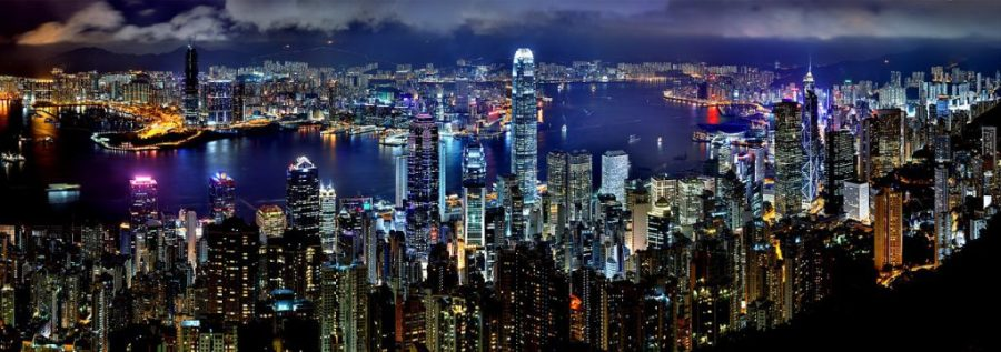 hong-kong-skyline by night pixabay