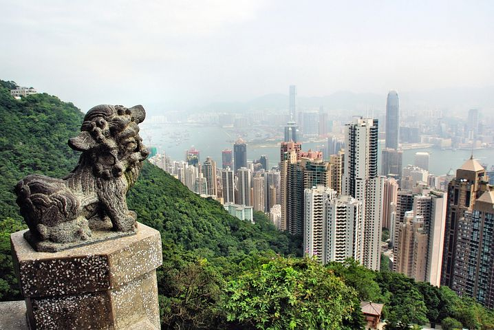 hong-kong skyline from high viewpoint