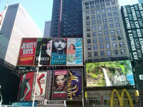 Billboards Times Square New York